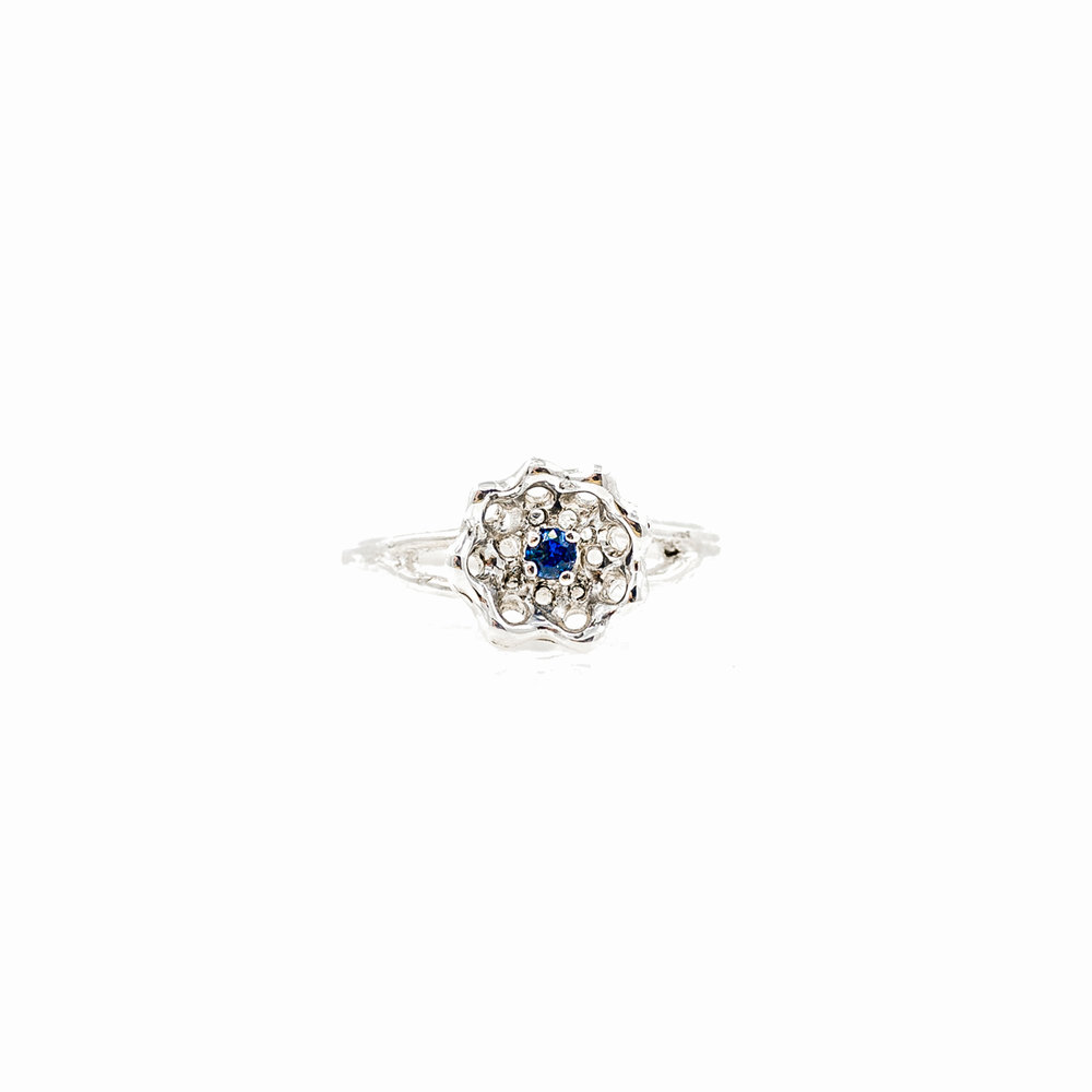 Cusp Ring | Sterling silver, Australian blue sapphire.