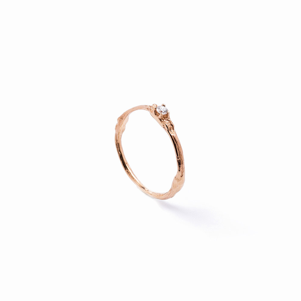 Towers Band | Rose gold, brilliant white diamond.