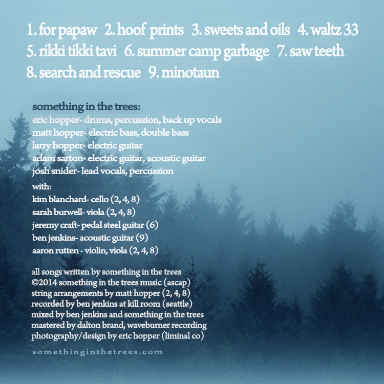 back cover of compact disc