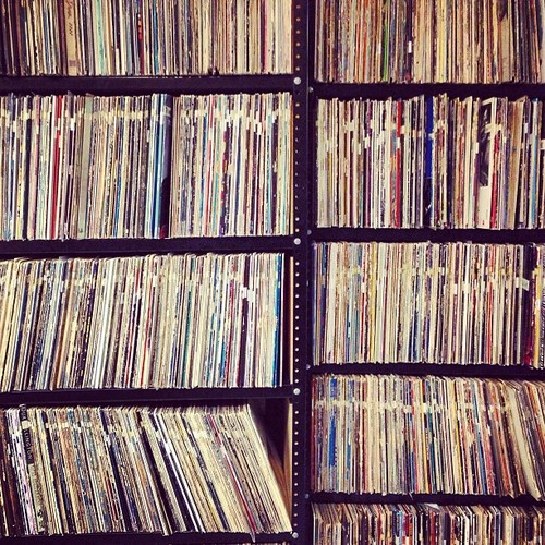 Check out this sweet picture!   This is the record archive at 91.1 WFMU, New Jersey's independent community radio. It's the longest-running freeform station, is listener-supported, and is one of my favorites to listen to.