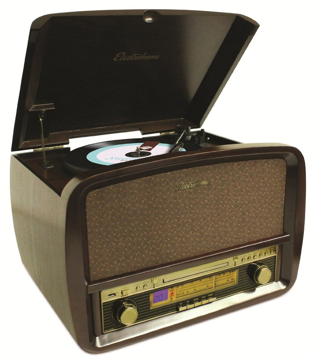 Electrohome Signature Retro Hi-Fi Stereo System with Record Player