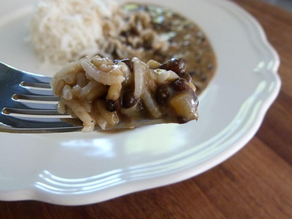 Dal makhani y arroz basmati, una combinación perfecta