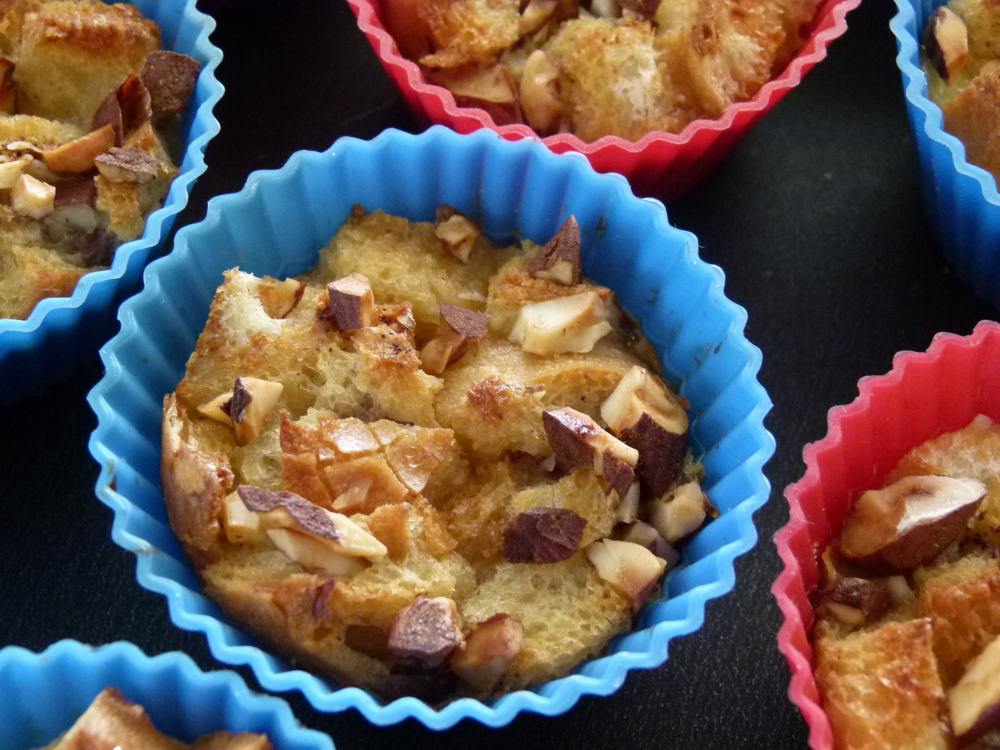 Pudding de pan en magdalenas