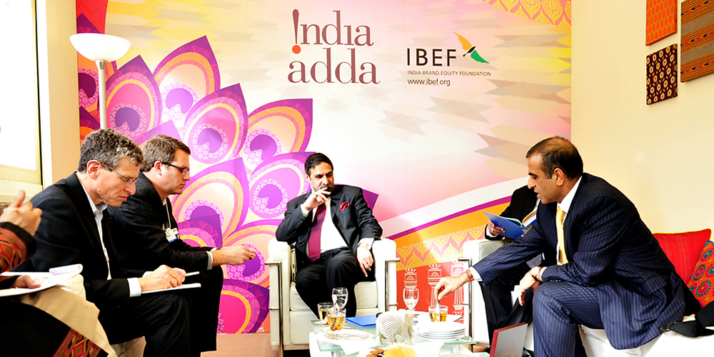 India Adda at the Annual Meeting of the World Economic Forum, Davos 2012