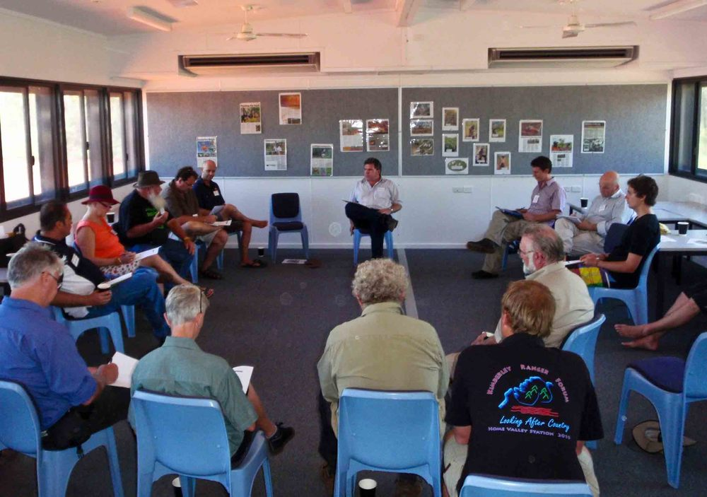Rowan running a workshop in Broome