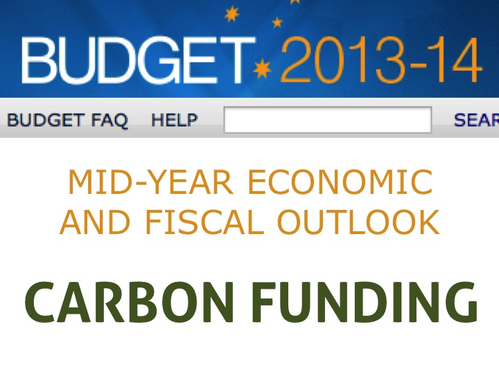 Summary of MYEFO climate funding changes