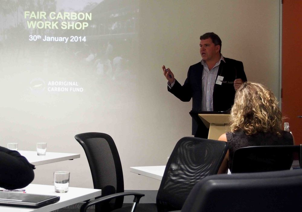 Rowan Foley from Aboriginal Carbon Fund introducing the workshop