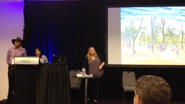 Olkola crew giving their presentation at the Native Title Conference in Darwin