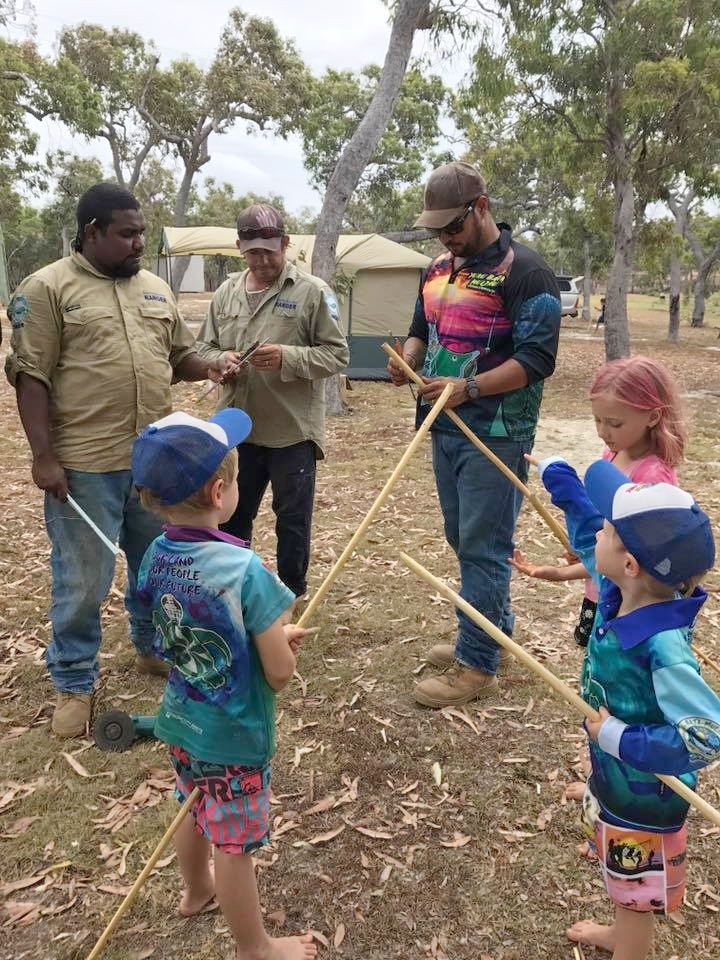 YBM Rangers making spears.jpg