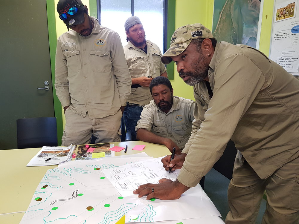 Mapoon Land & Sea Ranger Lee Ase taking the lead on one of the Core Benefits activities.