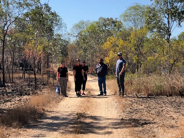 The NAB Team with Kowanyama Mayor Michael Yam at Oriners Station