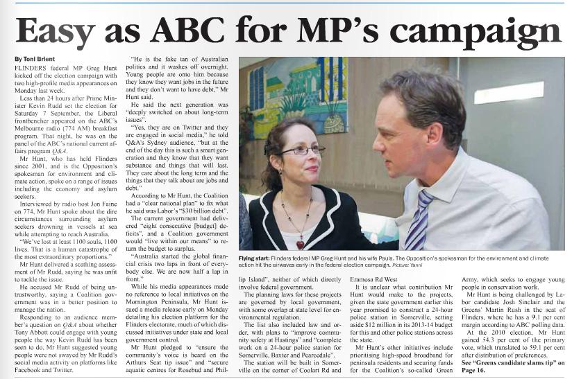 Westernport News: 12 August, 2013.