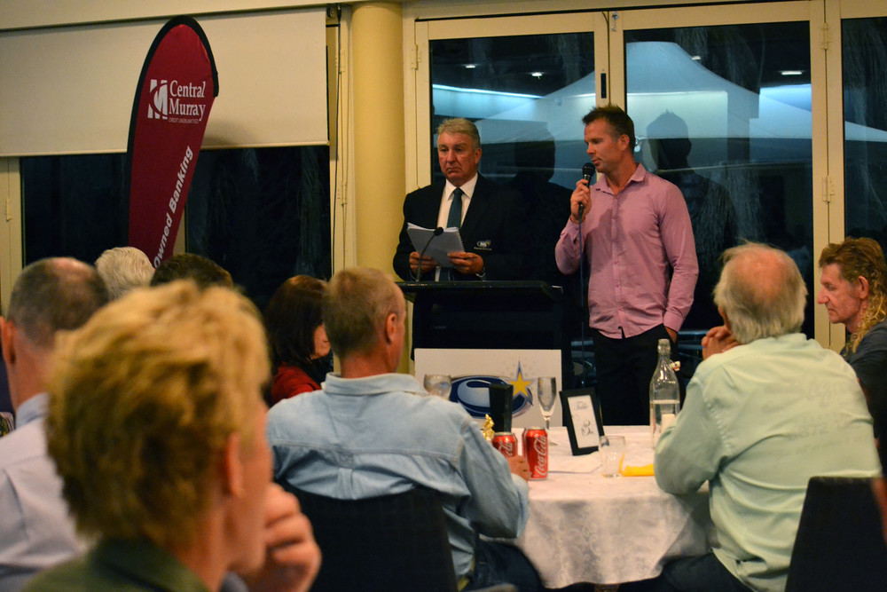 Telling tales: Former AFL great and 1991/1992 Junior Sports Star of the Year recipient Tim Hargreaves speaks about his football career. Picture: Toni Brient.