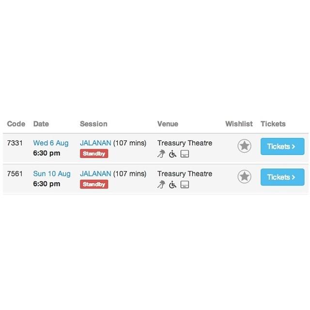 Presale tickets #screening #JALANAN di Melbourne International #Film #Festival udah SOLD OUT! Datang awal di hari H ya, akan ada penjualan tiket beberapa jam sebelumnya di #venue. :)