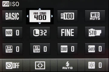 Menu under the Q button