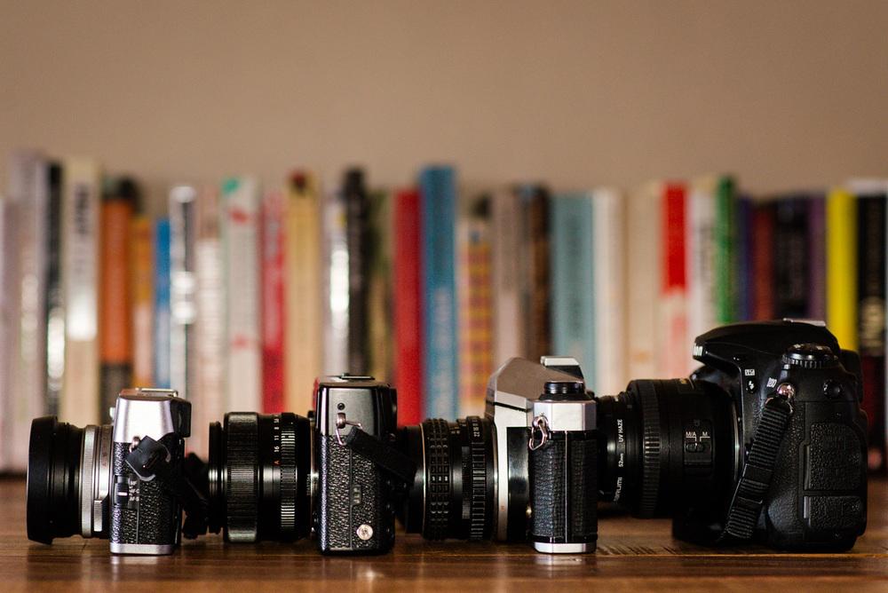 Fujifilm X100s, X-Pro 1, Pentax K1000 and Nikon D200