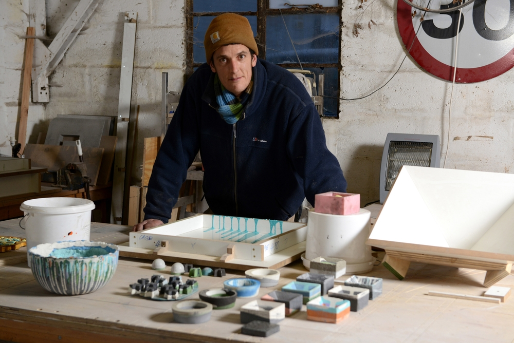 Leigh Cameron in his workshop © Justin Piperger