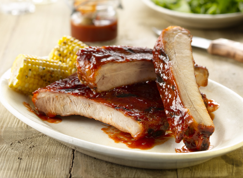 Barbeque Ribs With Grilled Corn | Tony Kubat Photography