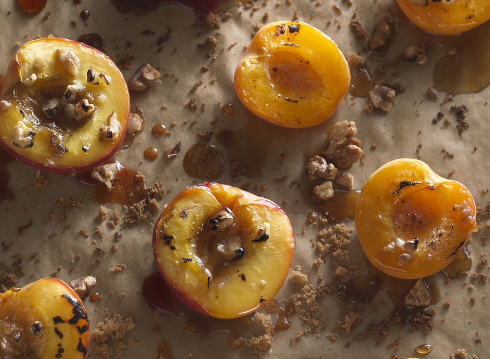 Spiced and Roasted Nectarines | Tony Kubat Photography