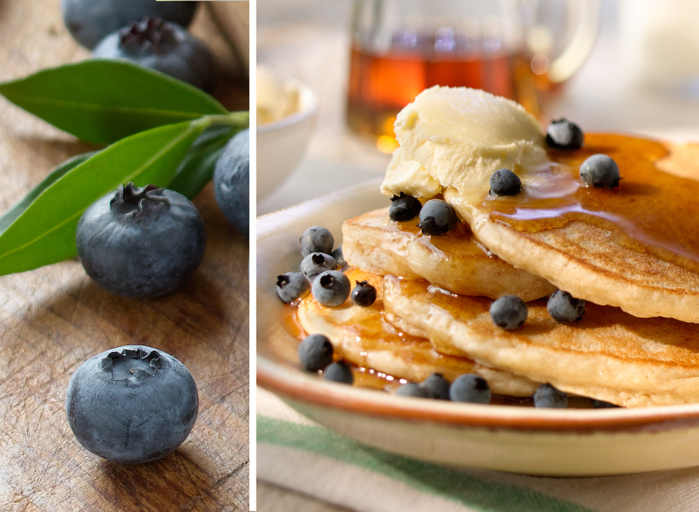 Blueberry Pancakes | Tony Kubat Photography