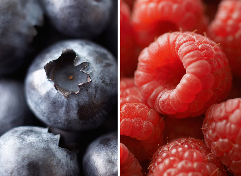 Blueberries And Raspberries | Tony Kubat Photography