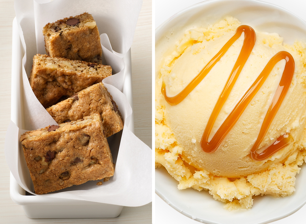 Cookie Bars With Ice Cream | Tony Kubat Photography