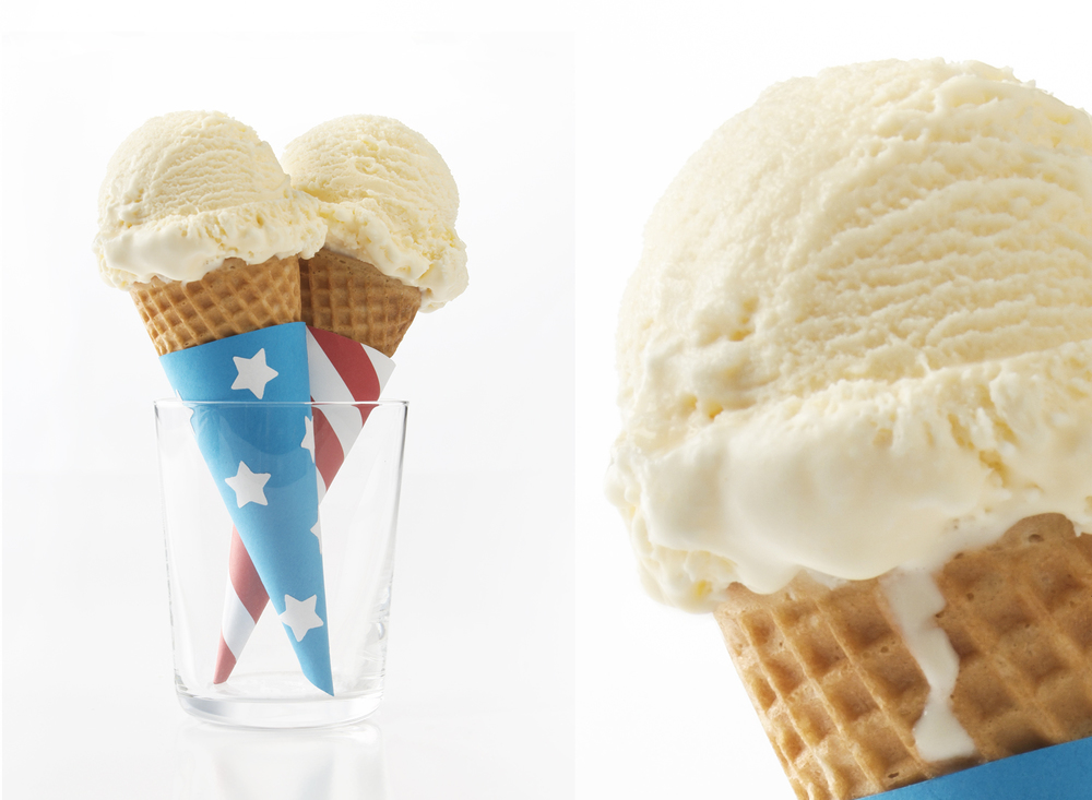 Patriotic Ice Cream Cones | Tony Kubat Photography