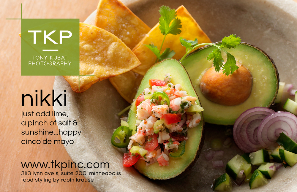 Fresh Avocado Shrimp Ceviche | Tony Kubat Photography