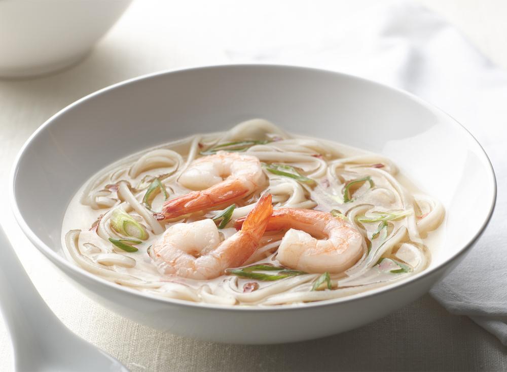 Asian Noodle Shrimp Soup | Tony Kubat Photography
