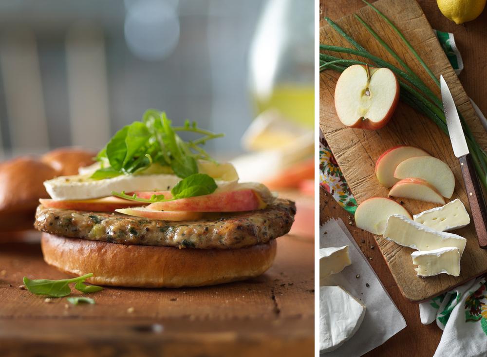 Turkey Burger With Apples | Tony Kubat Photography
