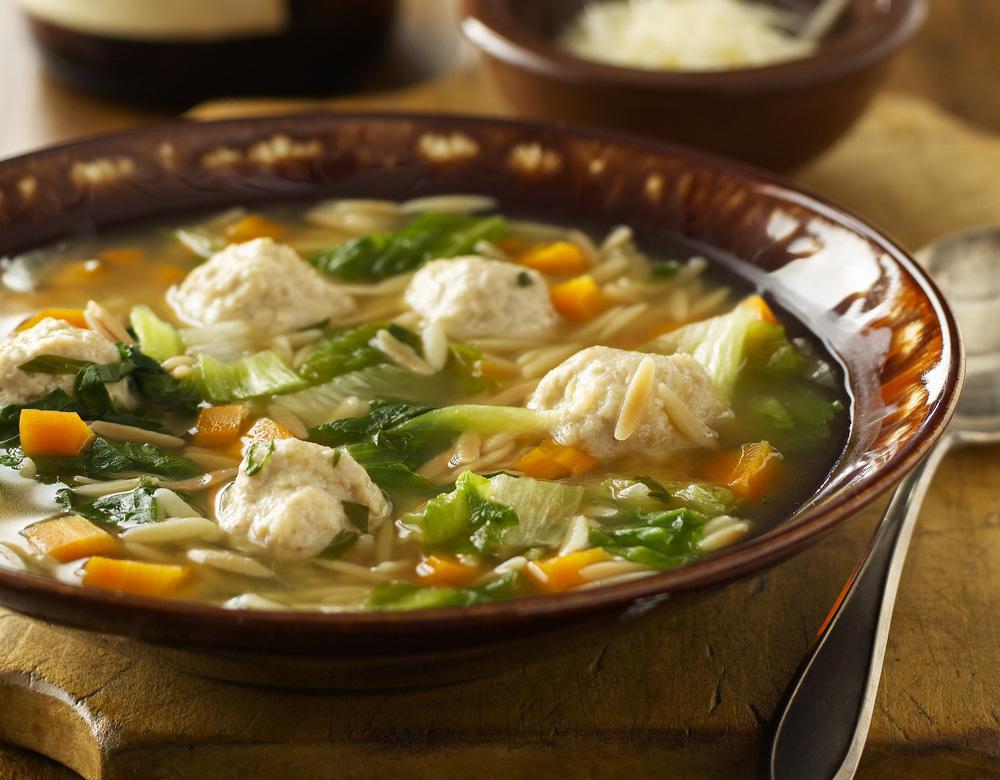 Chicken Meatball Soup | Tony Kubat Photography