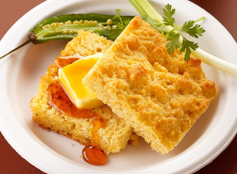 Cornbread With Honey And Butter | Tony Kubat Photography