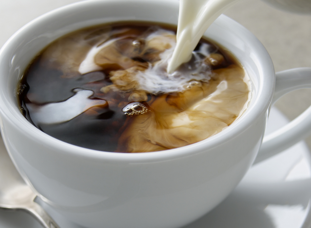 Coffee With Cream Pour | Tony Kubat Photography