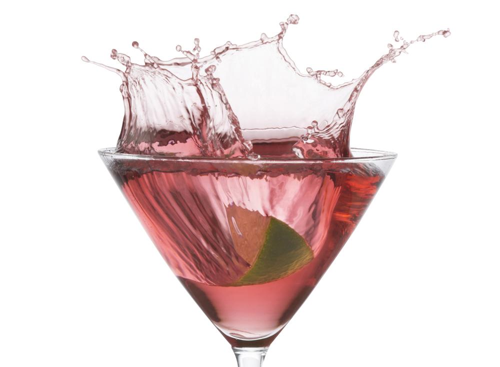 Cosmopolitan Martini Splash | Tony Kubat Photography