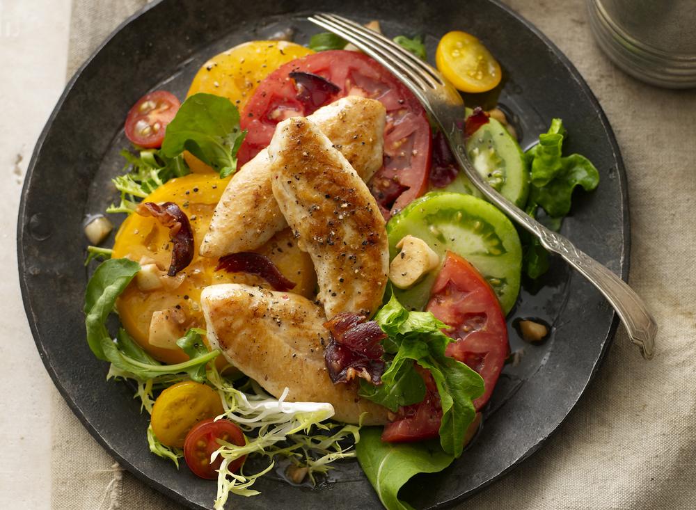 Grilled Chicken And Tomato Salad | Tony Kubat Photography