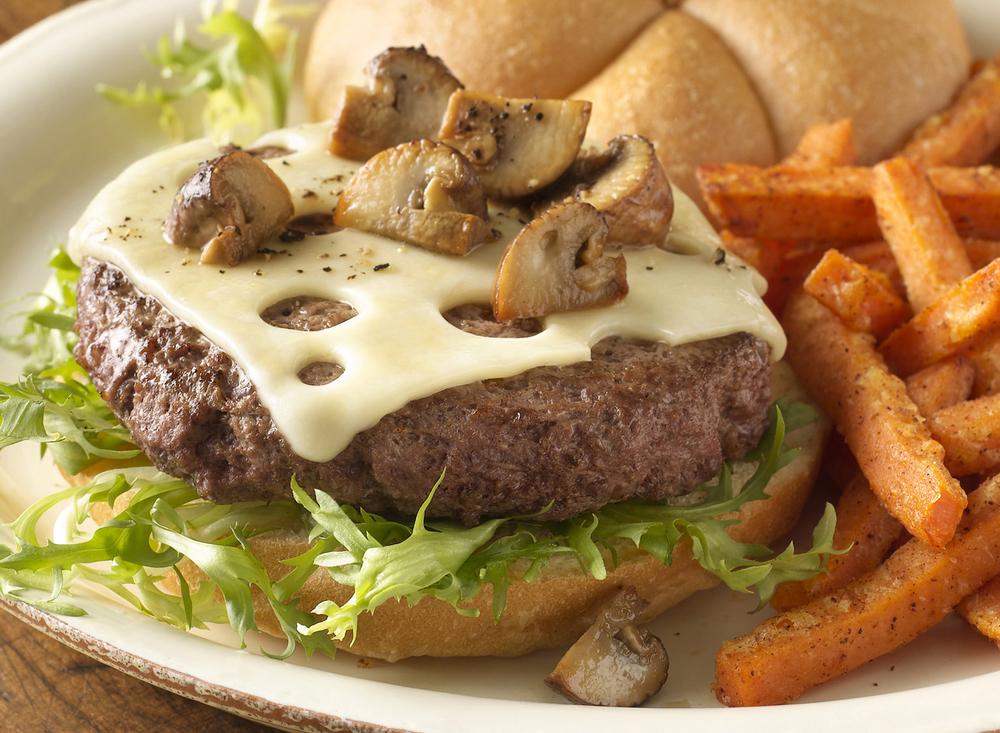 Mushroom Swiss Burger | Tony Kubat Photography