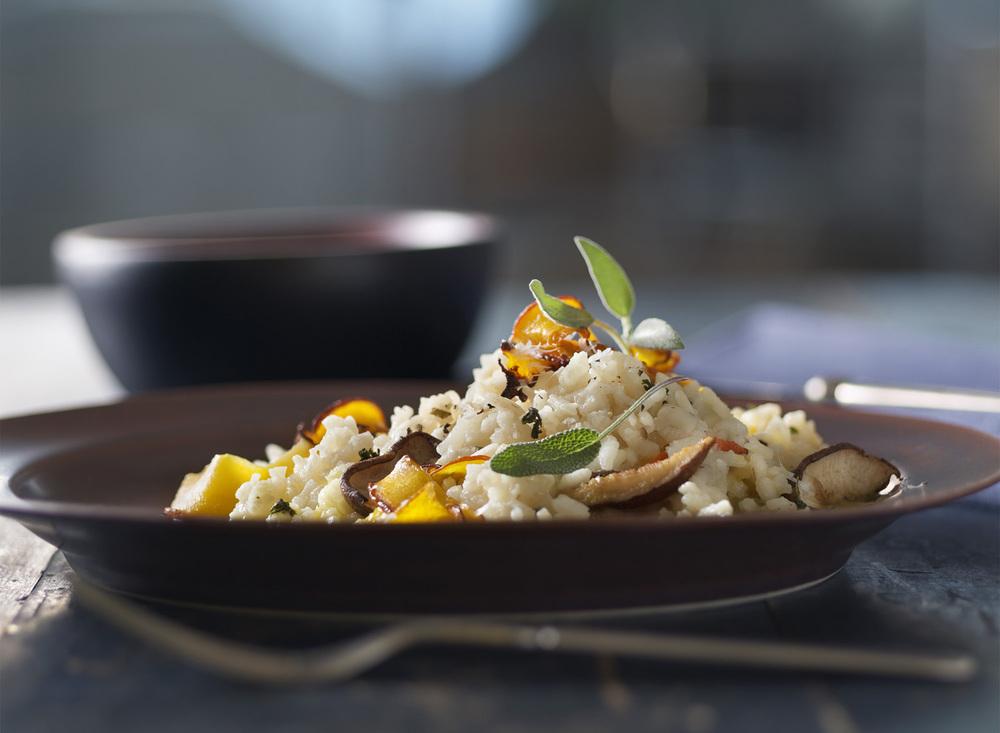 Roasted Mushroom and Squash Risotto | Tony Kubat Photography