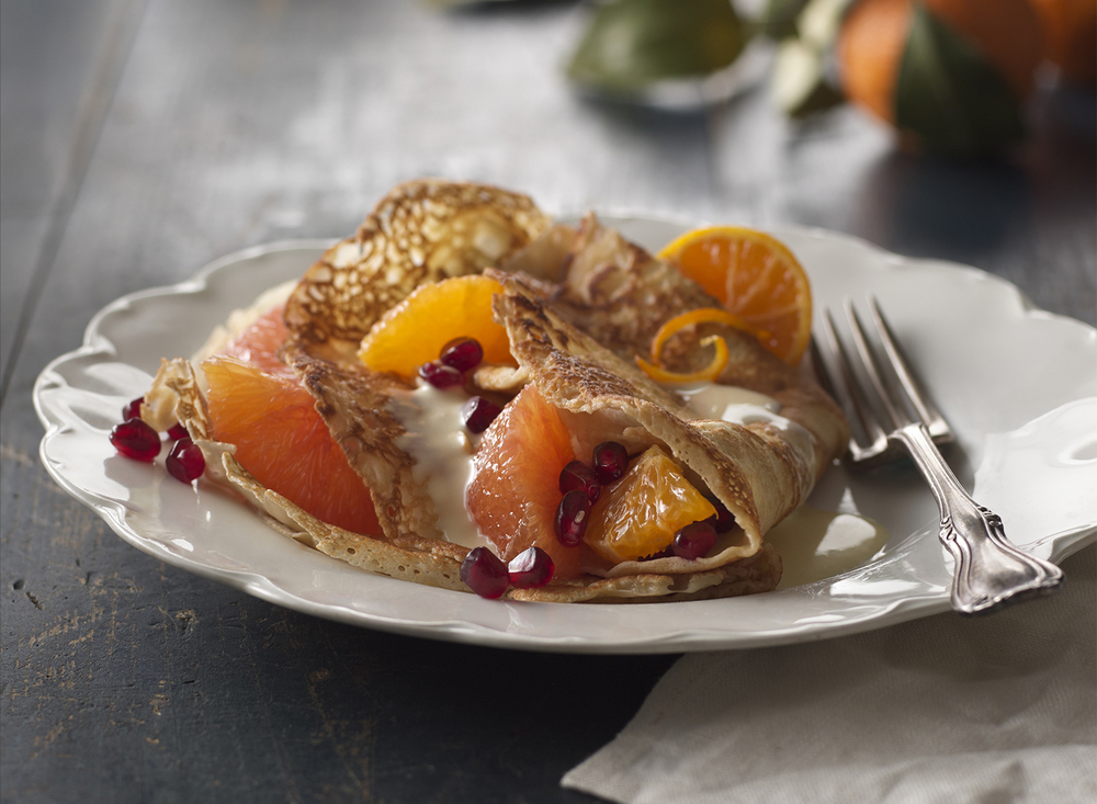 Sweet Citrus Crepes | Tony Kubat Photography