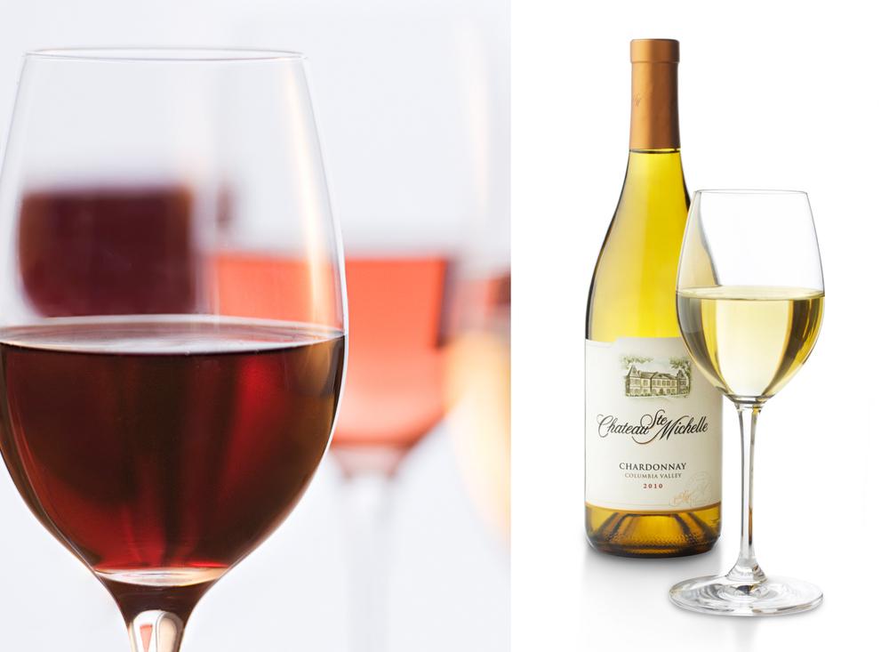 Wine Glasses With Bottle | Tony Kubat Photography