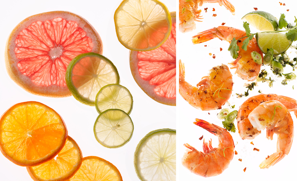 Fresh Citrus and Shrimp | Tony Kubat Photography