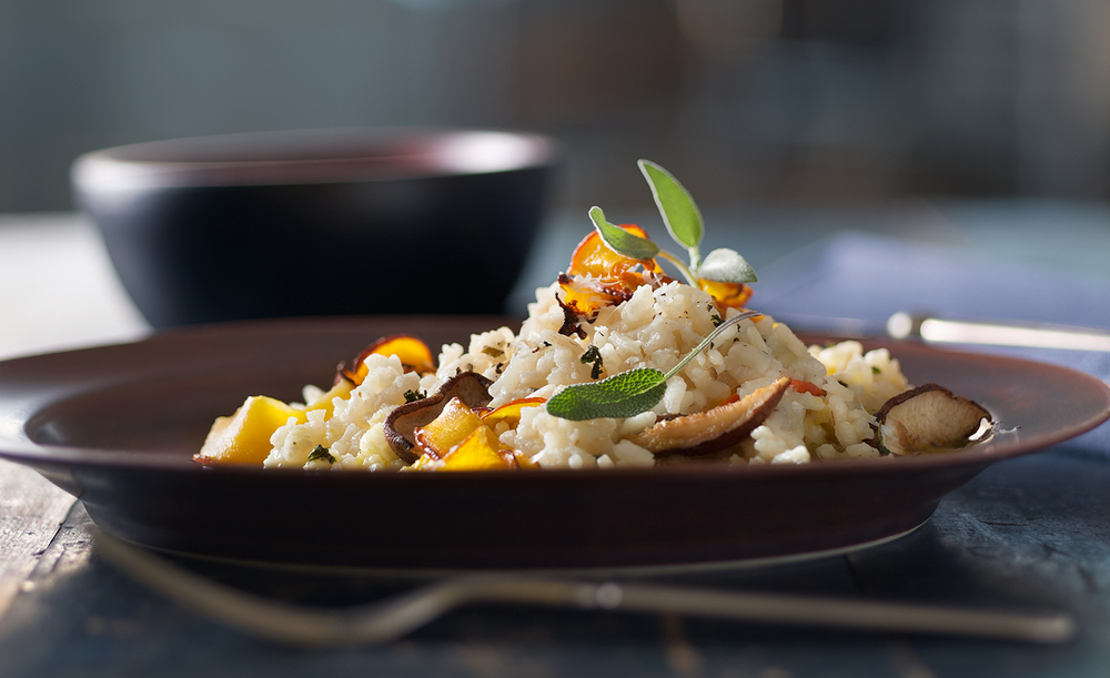 Roasted Mushroom and Squash Risotto | Tony Kubat Photography