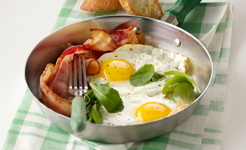 Sunny Side Up Eggs And Bacon | Tony Kubat Photography