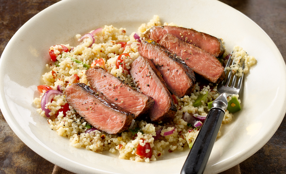 Steak WIth Couscous | Tony Kubat Photography