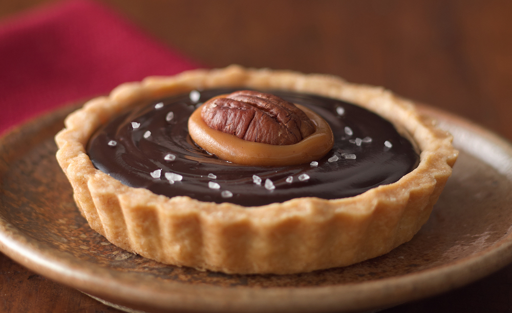 Salted Caramel Chocolate Tart | Tony Kubat Photography