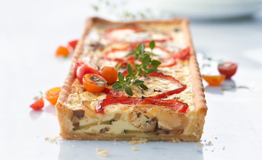 Roasted Vegetable Quiche | Tony Kubat Photography