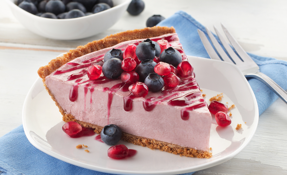 Blueberry Pomegranate Cheesecake | Tony Kubat Photography