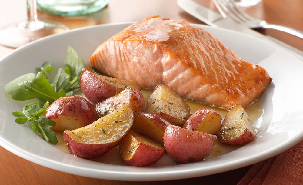 Roasted Potatoes With Salmon | Tony Kubat Photography