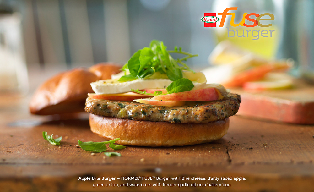 Turkey Burger With Apples | Tony Kubat Photography