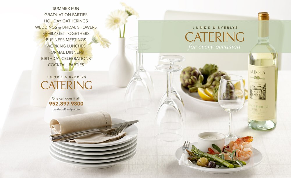 Lund's Catering Ad | Tony Kubat Photography