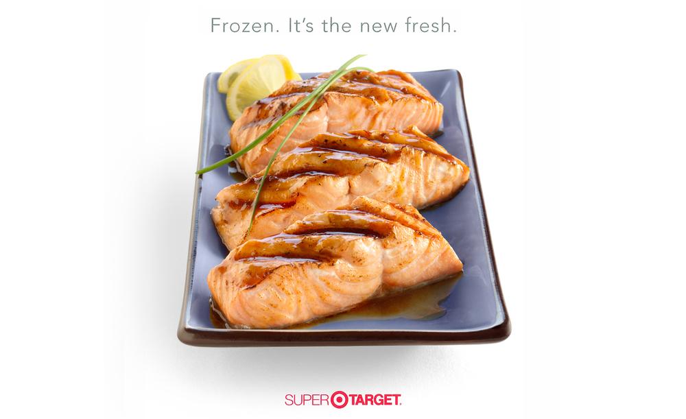 Target Salmon Ad | Tony Kubat Photography